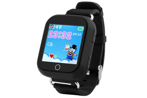 Детские часы-телефон с GPS трекером SmartWatch Q100S GPS black