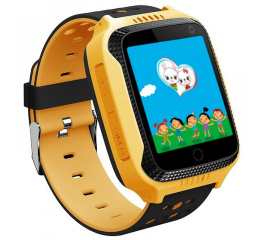 Купить Дитячий смарт-годинник с GPS трекером Q528 yellow в Украине