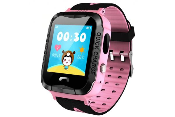 Детские умные часы с GPS трекером и камерой Smart Baby Watch V6G pink