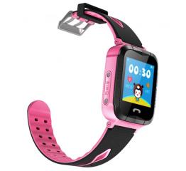 Купить Дитячий смарт-годинник з GPS трекером и камерой Smart Baby Watch V6G pink в Украине