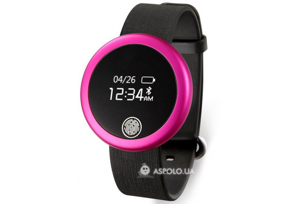 Фитнес браслет с монитором сердечного ритма S6 pink