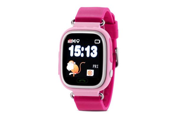 Детские смарт часы Q90 GPS Pink