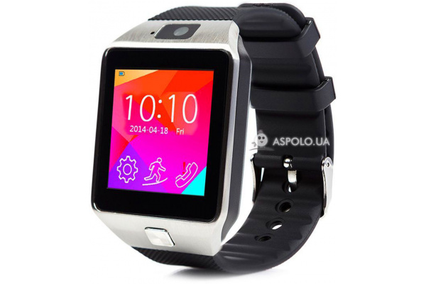 Смарт часы SmartWatch DZ09 silver/black