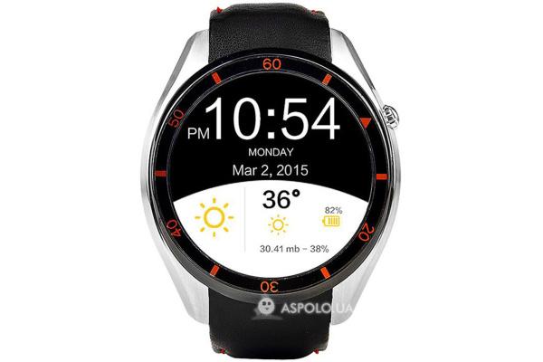 Смарт часы SmartWatch i3 Leather silver