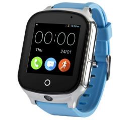 Купить Смарт часы с GPS трекером и камерой Smart Watch A19 blue в Украине