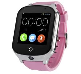 Купить Смарт часы с GPS трекером и камерой Smart Watch A19 pink в Украине