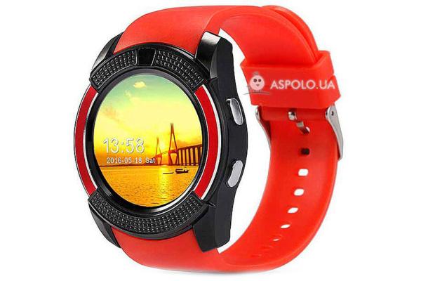 Смарт часы SmartWatch SW V8 red