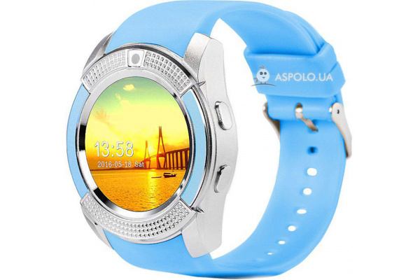 Смарт часы SmartWatch SW V8 blue
