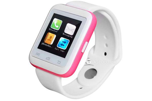 Смарт часы SmartWatch U9 white/red