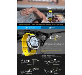 Водонепроницаемый фитнес браслет трекер с монитором сердечного ритма SF69 Waterproof Fitness Tracker Black Grey