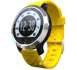 Водонепроницаемый фитнес браслет трекер с монитором сердечного ритма SF69 Waterproof Fitness Tracker Black Yellow