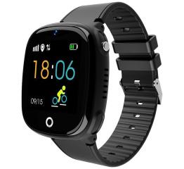 Купить Дитячий смарт-годинник з GPS трекером HW11 Black