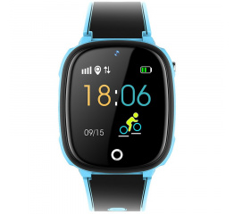 Детские часы-телефон с GPS трекером HW11 Blue