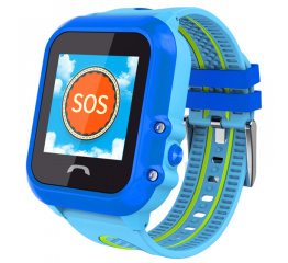 Купить Детские cмарт часы с GPS трекером SmartWatch DF27 Blue