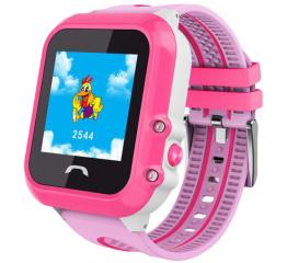 Детские часы-телефон с GPS трекером SmartWatch DF27 Pink