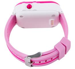 Купить Детские cмарт часы с GPS трекером SmartWatch DF27 Pink в Украине