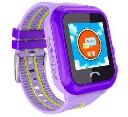 Детские часы-телефон с GPS трекером SmartWatch DF27 Purple