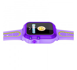 Купить Детские cмарт часы с GPS трекером SmartWatch DF27 Purple в Украине