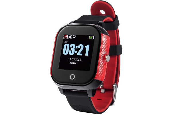 Детские cмарт часы с GPS трекером Wonlex GW700S Kid smart watch Black/Red