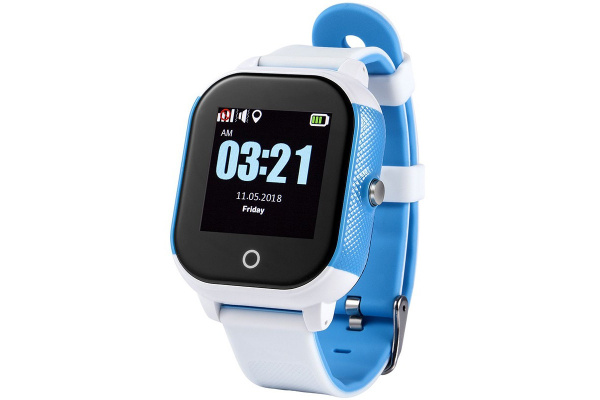 Детские cмарт часы с GPS трекером Wonlex GW700S Kid smart watch White/Blue