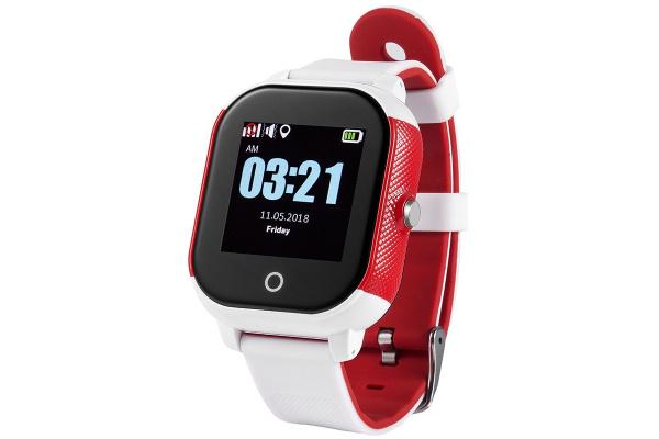 Детские cмарт часы с GPS трекером Wonlex GW700S Kid smart watch White/Red
