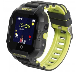 Детские cмарт часы с GPS трекером Wonlex KT03 Kid sport smart watch Black