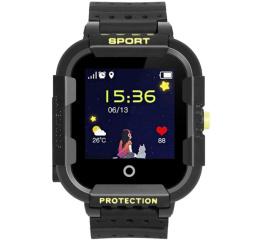 Детские часы-телефон с GPS трекером Wonlex KT03 Kid sport smart watch Black