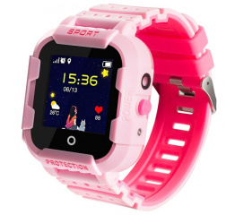 Детские cмарт часы с GPS трекером Wonlex KT03 Kid sport smart watch Pink
