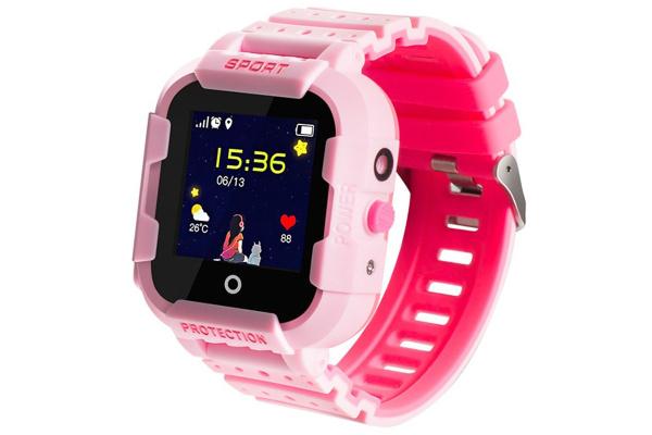 Детские cмарт часы с GPS трекером Wonlex KT03 Kid sport smart watch Pink