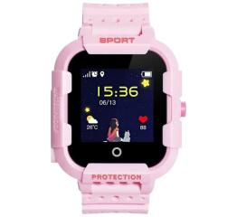 Детские часы-телефон с GPS трекером Wonlex KT03 Kid sport smart watch Pink