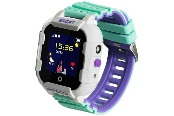 Детские cмарт часы с GPS трекером Wonlex KT03 Kid sport smart watch White