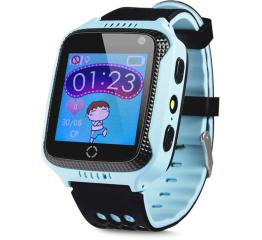 Купить Дитячий смарт-годинник с GPS трекером Q528 blue