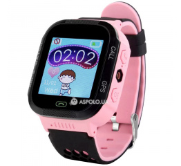 Купить Дитячий смарт-годинник с GPS трекером Q528 pink