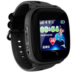 Купить Детские cмарт часы с GPS трекером SmartWatch DF25 GPS black
