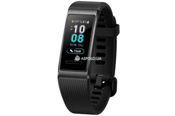 Фитнес-трекер Huawei Band 3 Pro Black с модулем GPS
