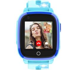 Купить Детские смарт часы с GPS трекером DF33 Blue