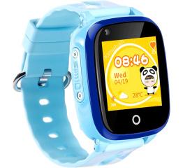 Детские часы-телефон с GPS трекером DF33 Blue
