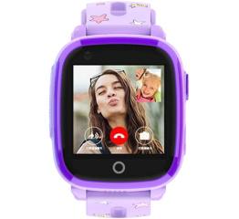 Купить Детские смарт часы с GPS трекером DF33 Purple