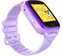 Купить Детские смарт часы с GPS трекером DF33 Purple в Украине