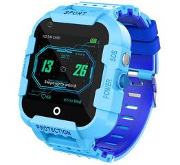 Купить Детские смарт часы с GPS трекером DF39 4G Blue