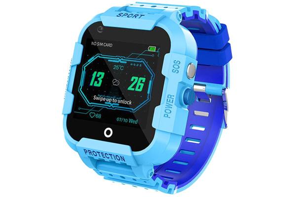 Детские смарт часы с GPS трекером DF39 4G Blue