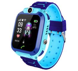 Купить Детские смарт часы с GPS трекером Q12 Blue