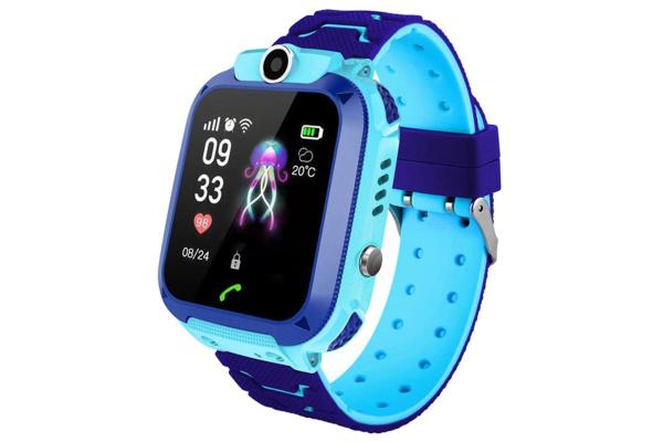 Детские смарт часы с GPS трекером Q12 Blue