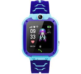 Детские часы-телефон с GPS трекером Q12 Blue