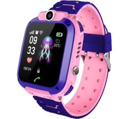 Купить Дитячий смарт-годинник з GPS трекером Q12 Pink