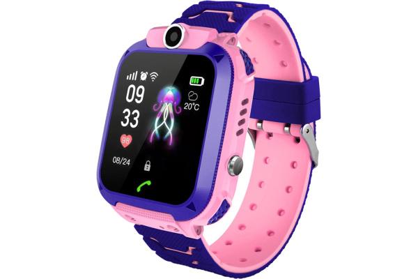 Детские смарт часы с GPS трекером Q12 Pink
