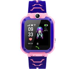 Купить Детские смарт часы с GPS трекером Q12 Pink в Украине