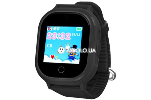 Детские cмарт часы с GPS трекером и камерой TD05 Black