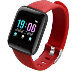 Купить Фітнес-браслет ID116 Plus Red в Украине