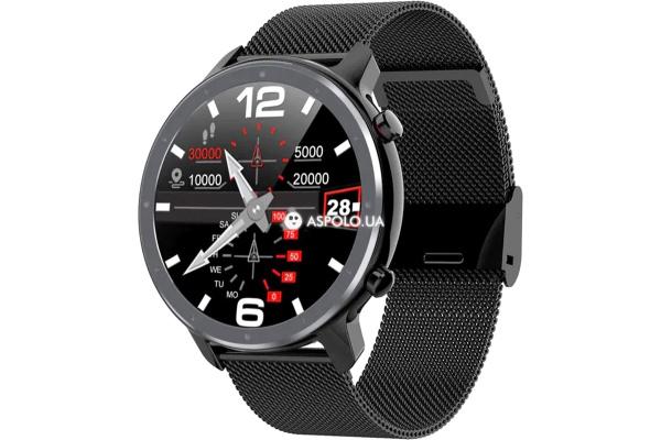 Смарт часы Microwear L11 с ЭКГ Metal black